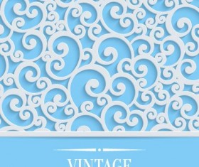 White floral pattern with vintage background vector