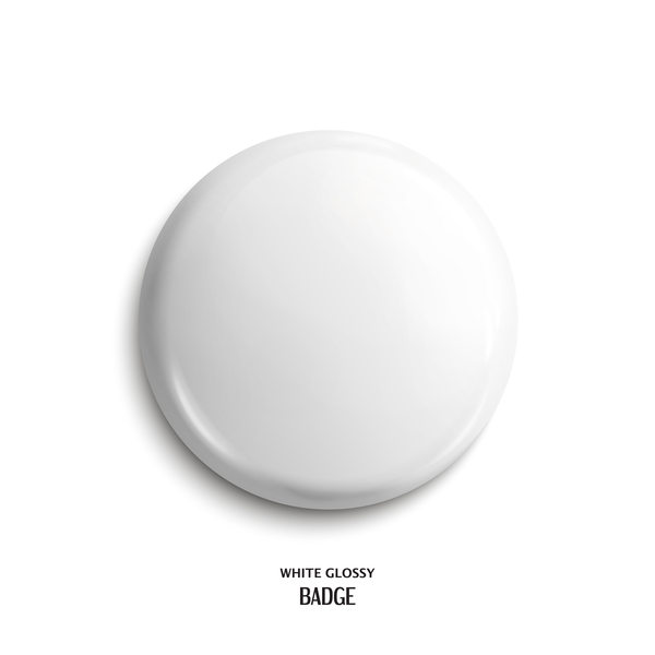 White glossy buttons vector material