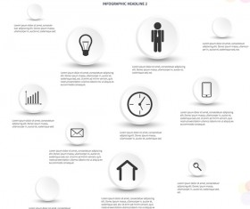 White infographic template with circle vectors design 01