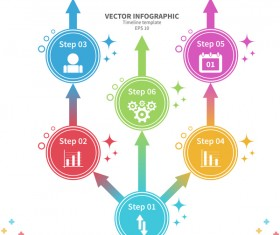 White timeline infographic template vectors 01