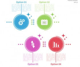 White timeline infographic template vectors 02