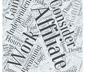 Who Should Consider Becoming an Affiliate Word Cloud vector background