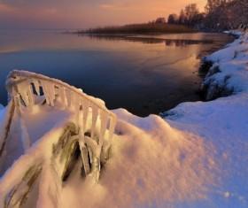 Winter lakes Stock Photo