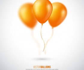 Yellow balloon with white blurs background vector