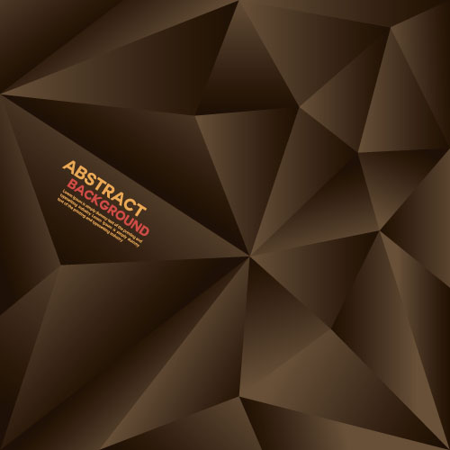 Brown Polygon Abstract Background Vector Free Download