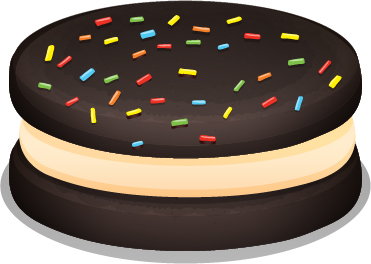 chocolate cookie sandwich vector material 03