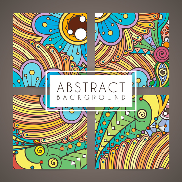 Colorful Intricate Abstract Background Vector Graphic 04