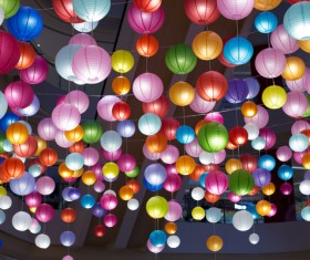 colorful lanterns Stock Photo 01
