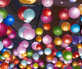 colorful lanterns Stock Photo 02