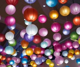 colorful lanterns Stock Photo 03