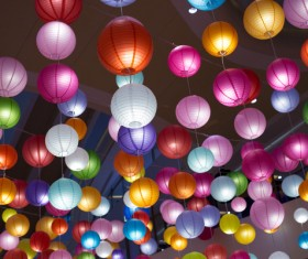 colorful lanterns Stock Photo 04