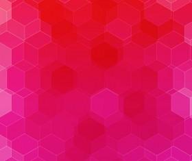 hexagon with pink gradient background vector 01