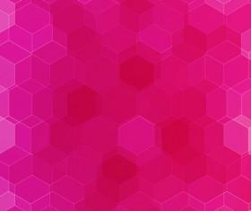 hexagon with pink gradient background vector 02