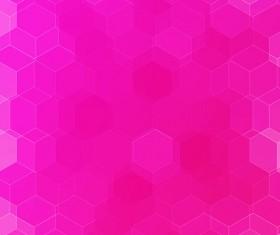 hexagon with pink gradient background vector 03