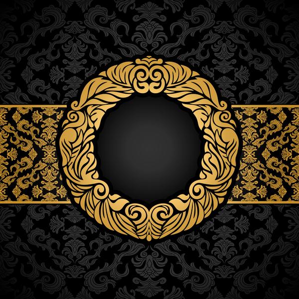 luxury black and gold vintage frame vector vector frames