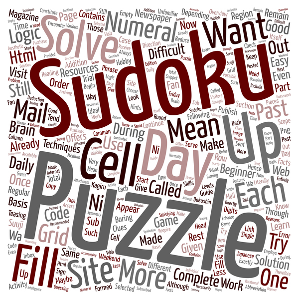 sudoku puzzle word cloud concept background vector free download