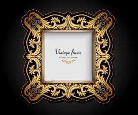 vintage doodle frame vector