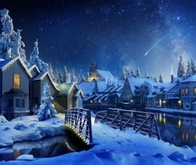 winter evening Stock Photo 01