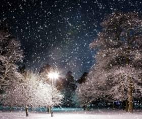 winter evening Stock Photo 02