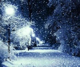 winter evening Stock Photo 03