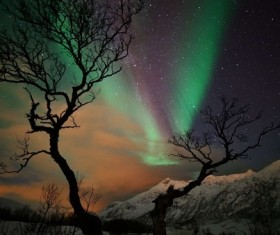 winter evening Stock Photo 04