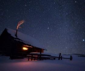 winter evening Stock Photo 06