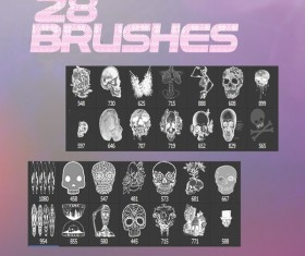 28 Skeleton photoshop brushes