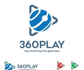 360 play logos design vector 01