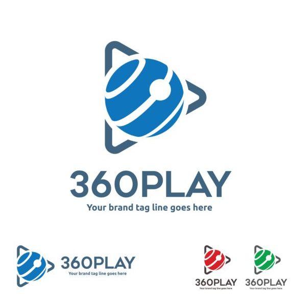 360 play logos design vector 01