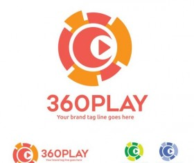 360 play logos design vector 02
