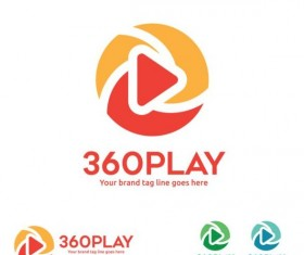 360 play logos design vector 03