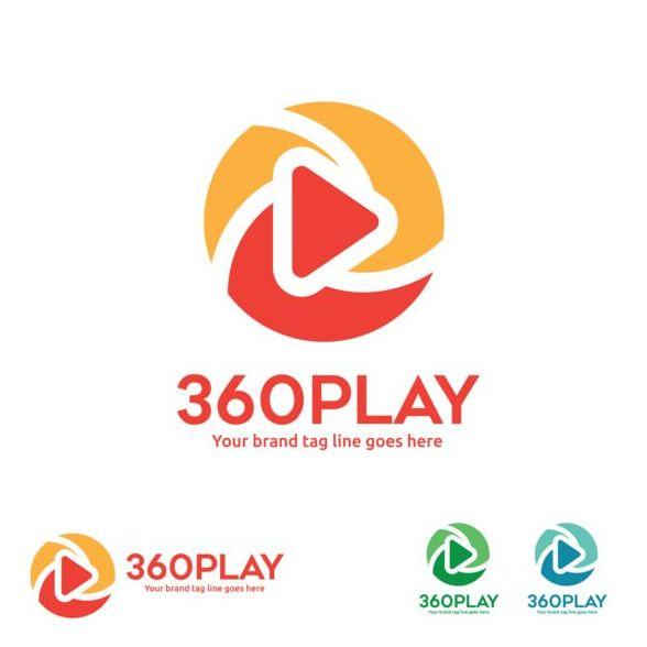 360 play logos design vector 03