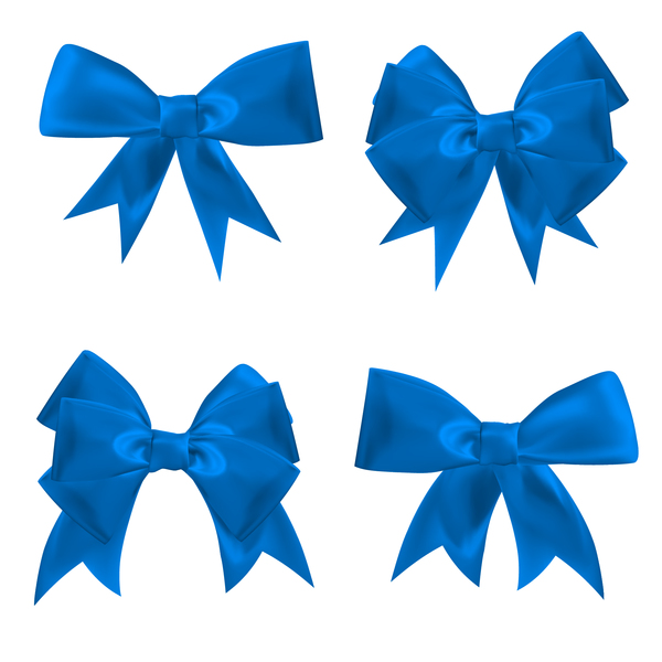 4 blue ribbon bows vector free download 4 blue ribbon bows vector free download