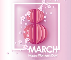 8 March womens day cards elegant vector 02