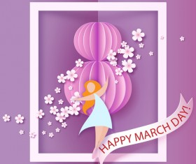 8 March womens day cards elegant vector 03