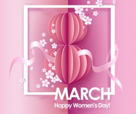 8 March womens day cards elegant vector 04