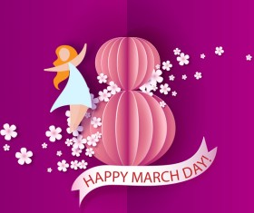 8 March womens day cards elegant vector 05