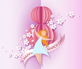 8 March womens day cards elegant vector 06