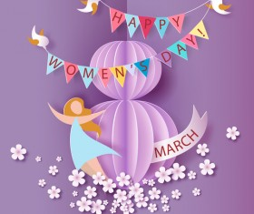 8 March womens day cards elegant vector 07