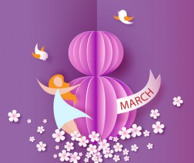8 March womens day cards elegant vector 08
