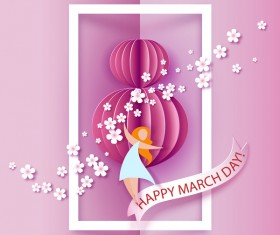 8 March womens day cards elegant vector 09
