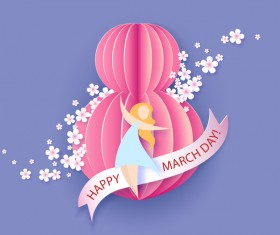8 March womens day cards elegant vector 12