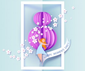 8 March womens day cards elegant vector 13
