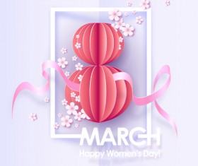 8 March womens day cards elegant vector 14