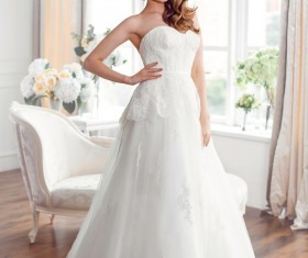 A bride wearing beautiful clothes Stock Photo 01