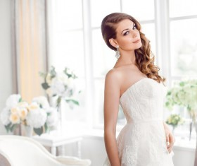 A bride wearing beautiful clothes Stock Photo 02