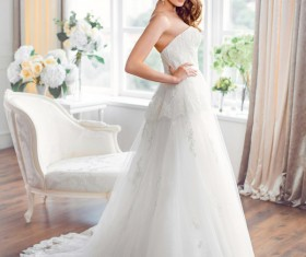 A bride wearing beautiful clothes Stock Photo 03