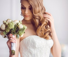 A bride wearing beautiful clothes Stock Photo 04