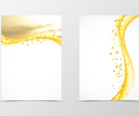 Abstract golden wavy cover illustration vector