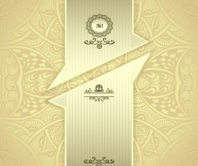 Abstract seamless gold light with vintage background vector